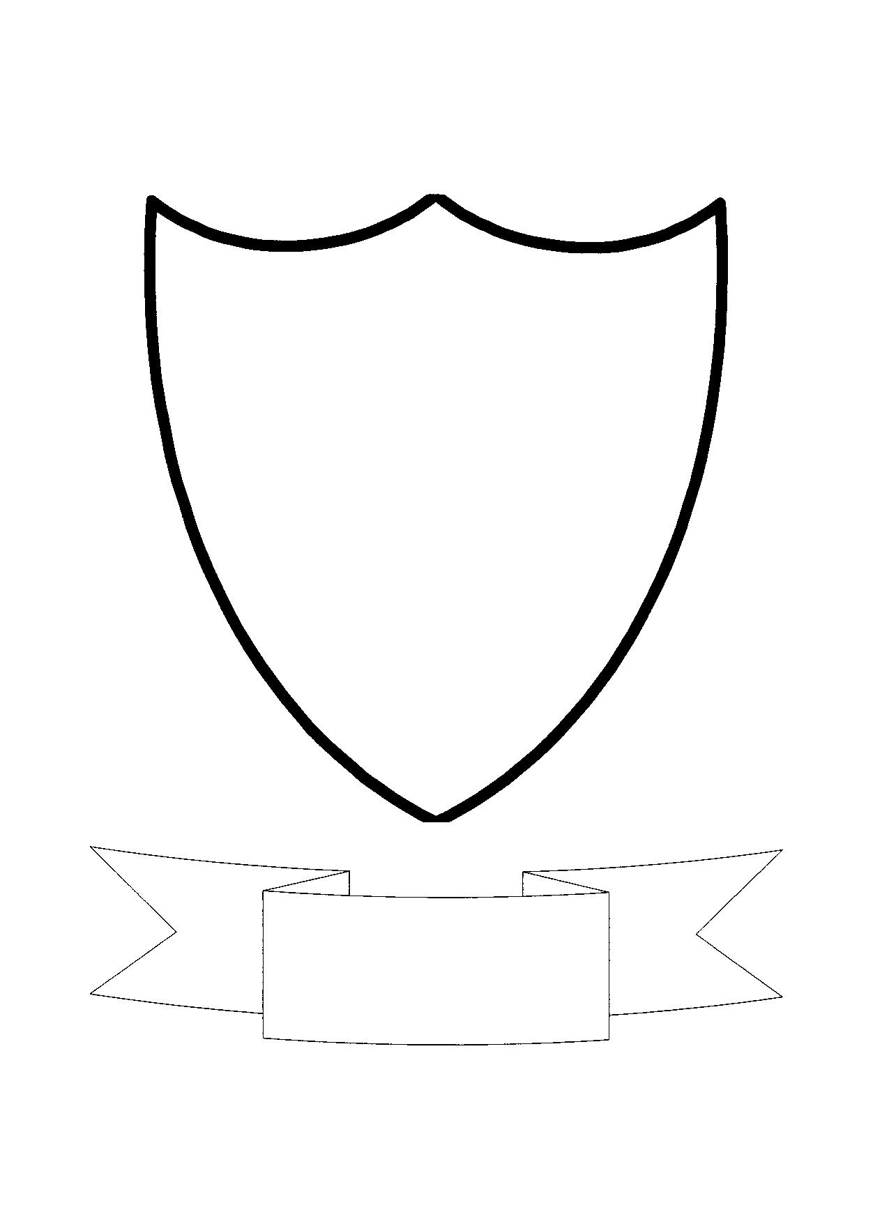 shield printable shield pattern use the printable outline for crafts printable shield