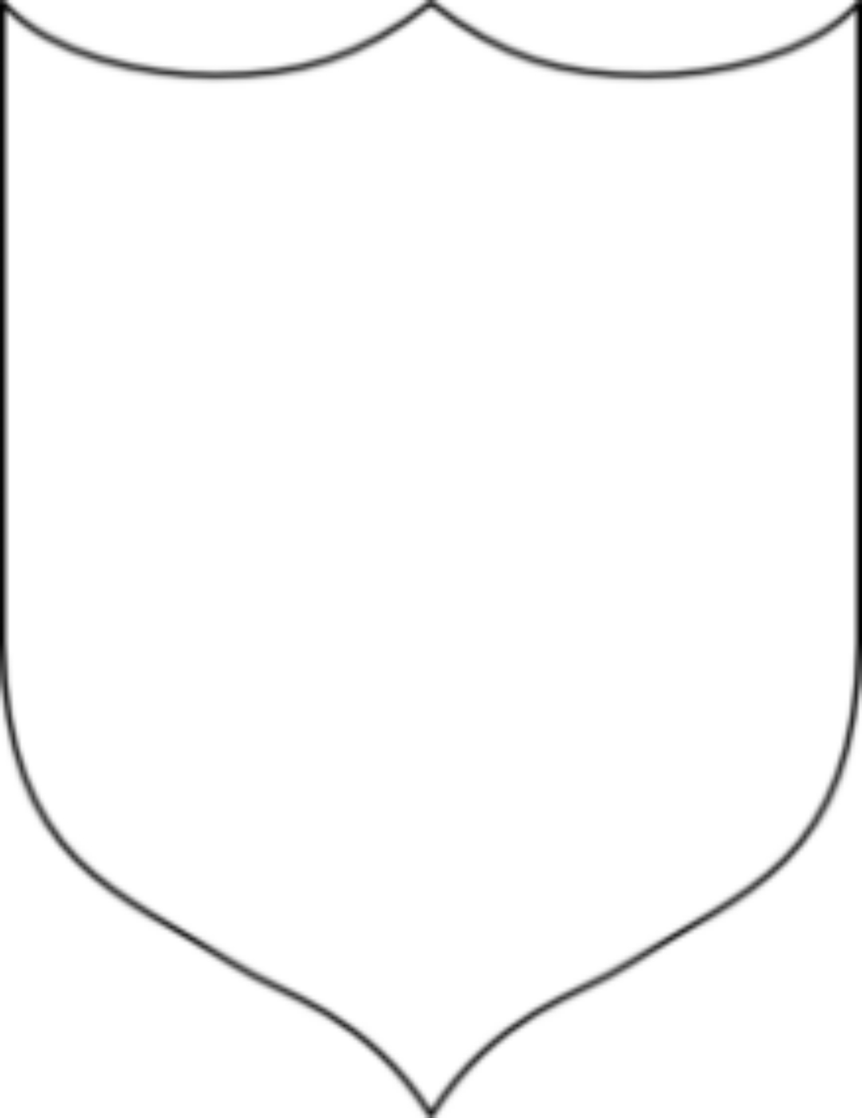 shield printable shield pattern use the printable outline for crafts printable shield 1 1