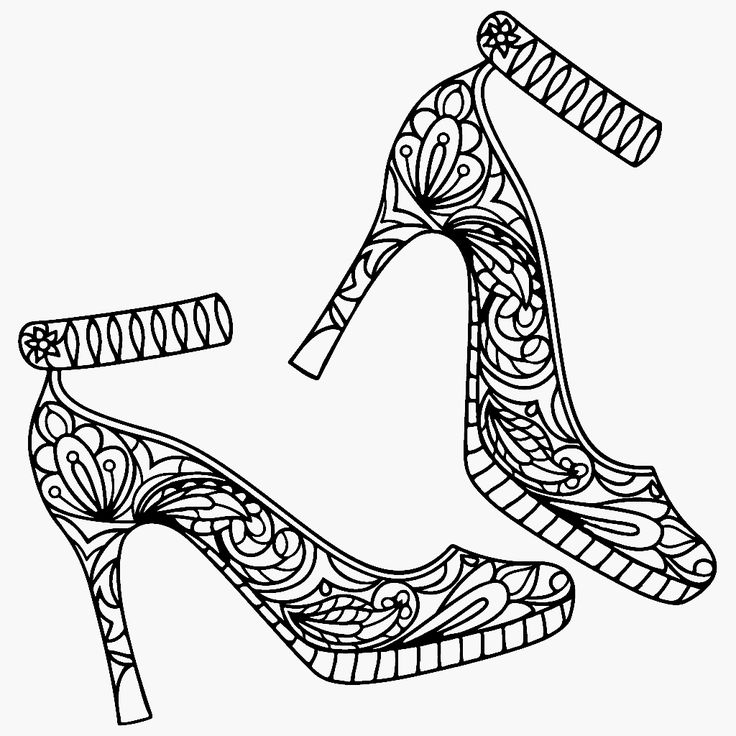 shoe color page 209 best shoes coloring pages for adults images on page shoe color