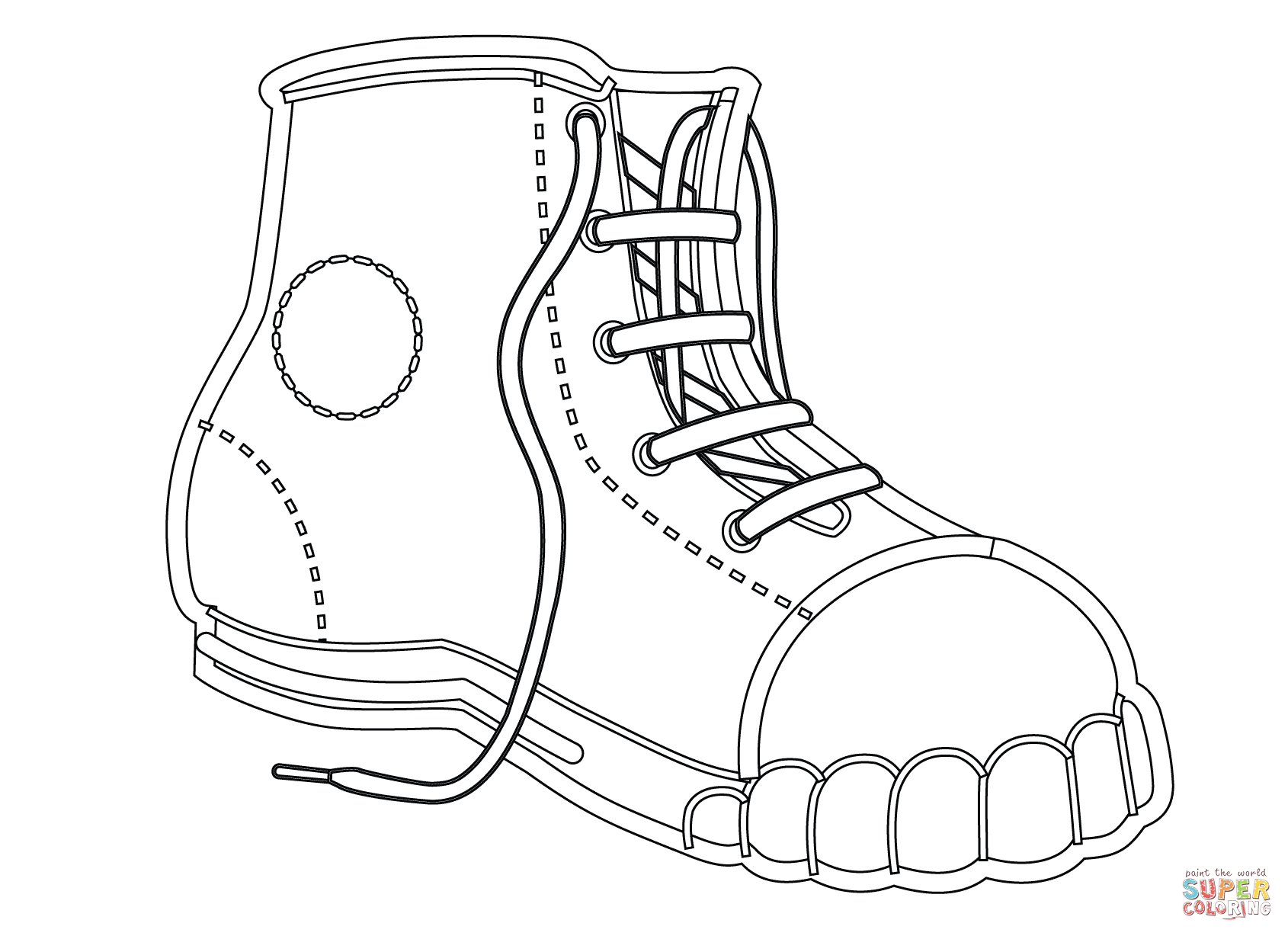 shoe color page jordan drawing shoes at getdrawings free download color page shoe