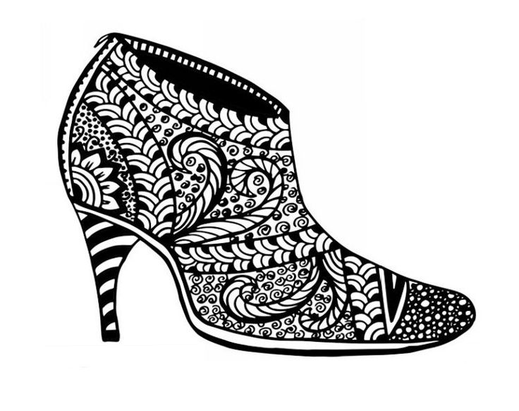 shoe color page the coolest free coloring pages for adults page shoe color