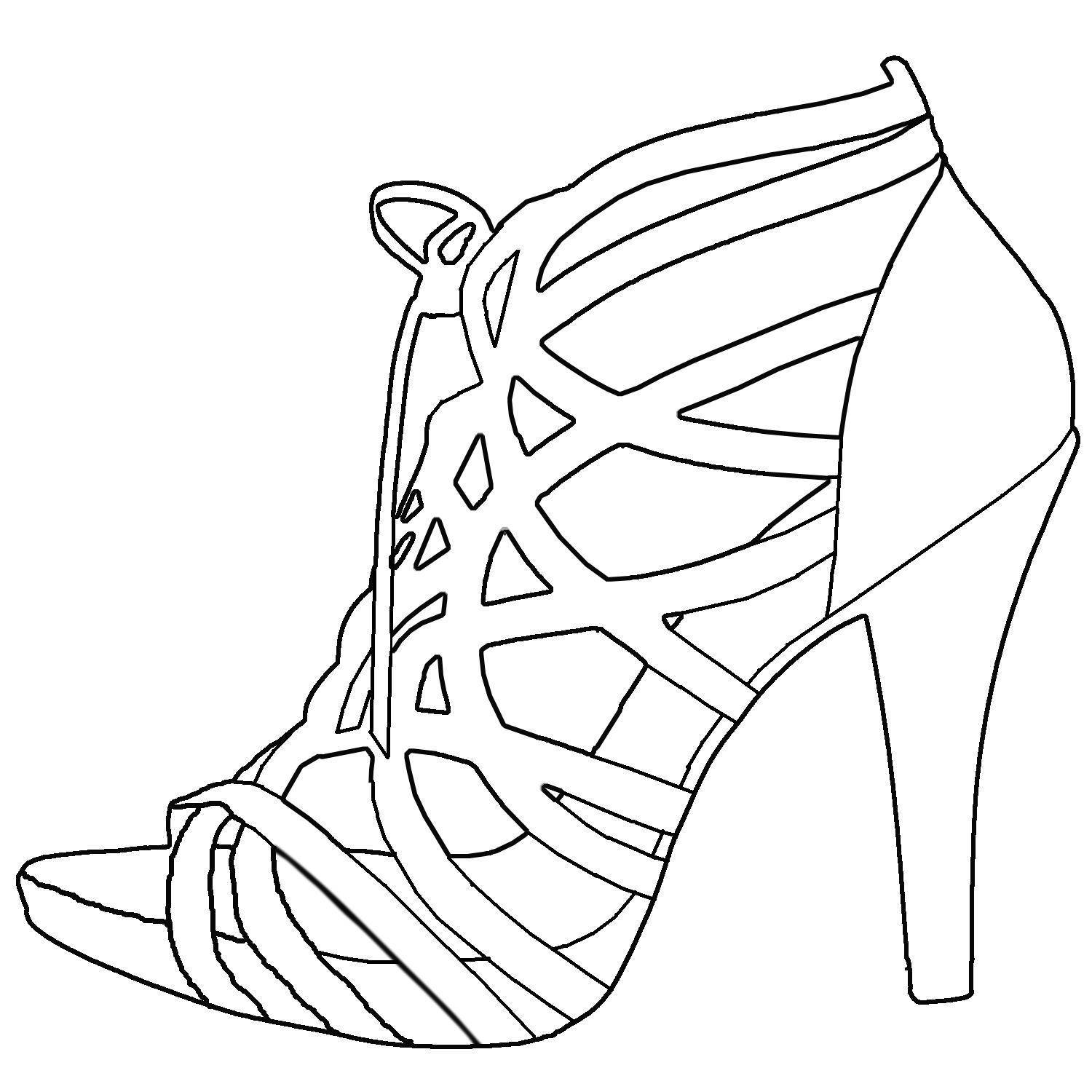 shoes to draw 170 best images about shoes coloring pages for adults on draw to shoes