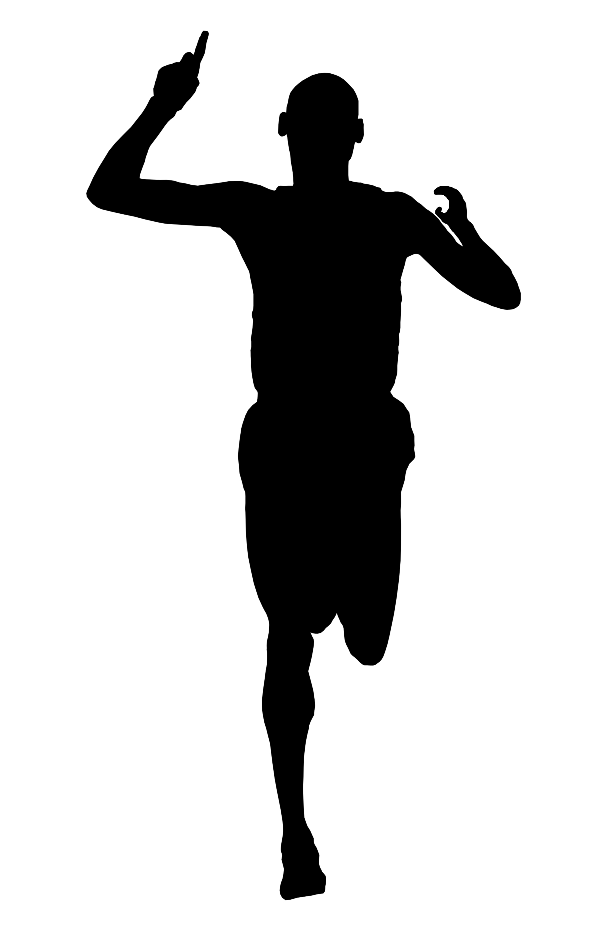 silhouette person running man running silhouette vector free at getdrawings free person silhouette running
