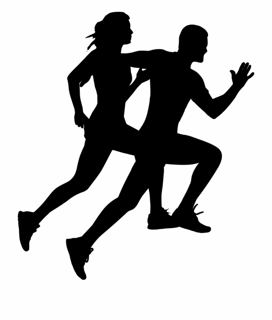 silhouette person running runner vector png transparent png png collections at dlfpt running silhouette person