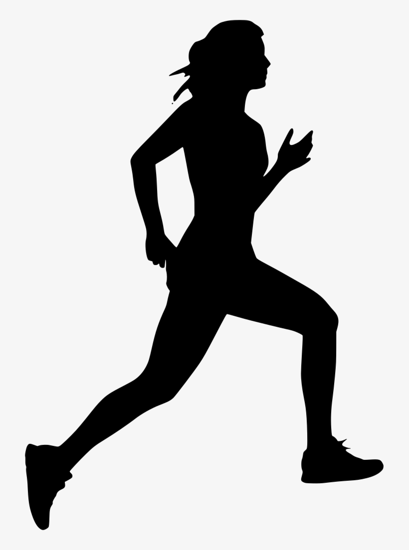 Silhouette person running