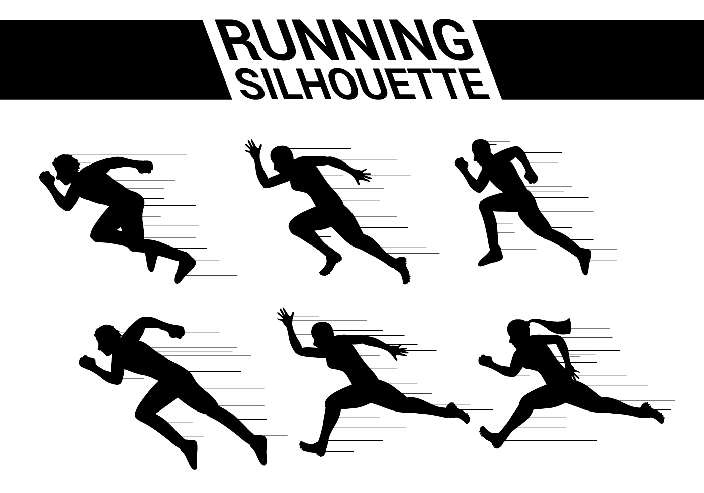 silhouette person running running silhouette vectors download free vectors running silhouette person