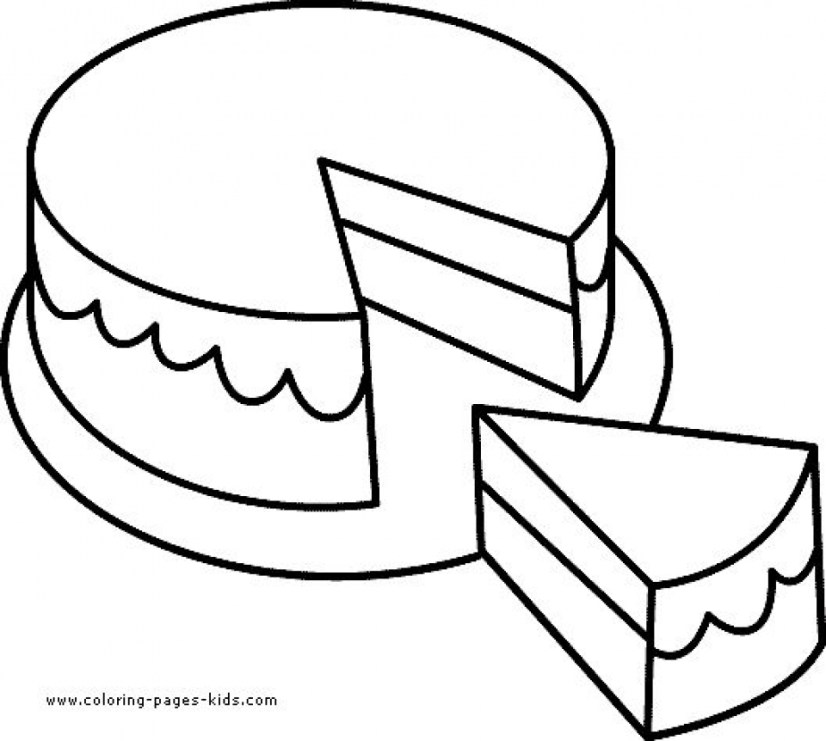 simple cake coloring pages birthday drawings free download on clipartmag pages cake coloring simple
