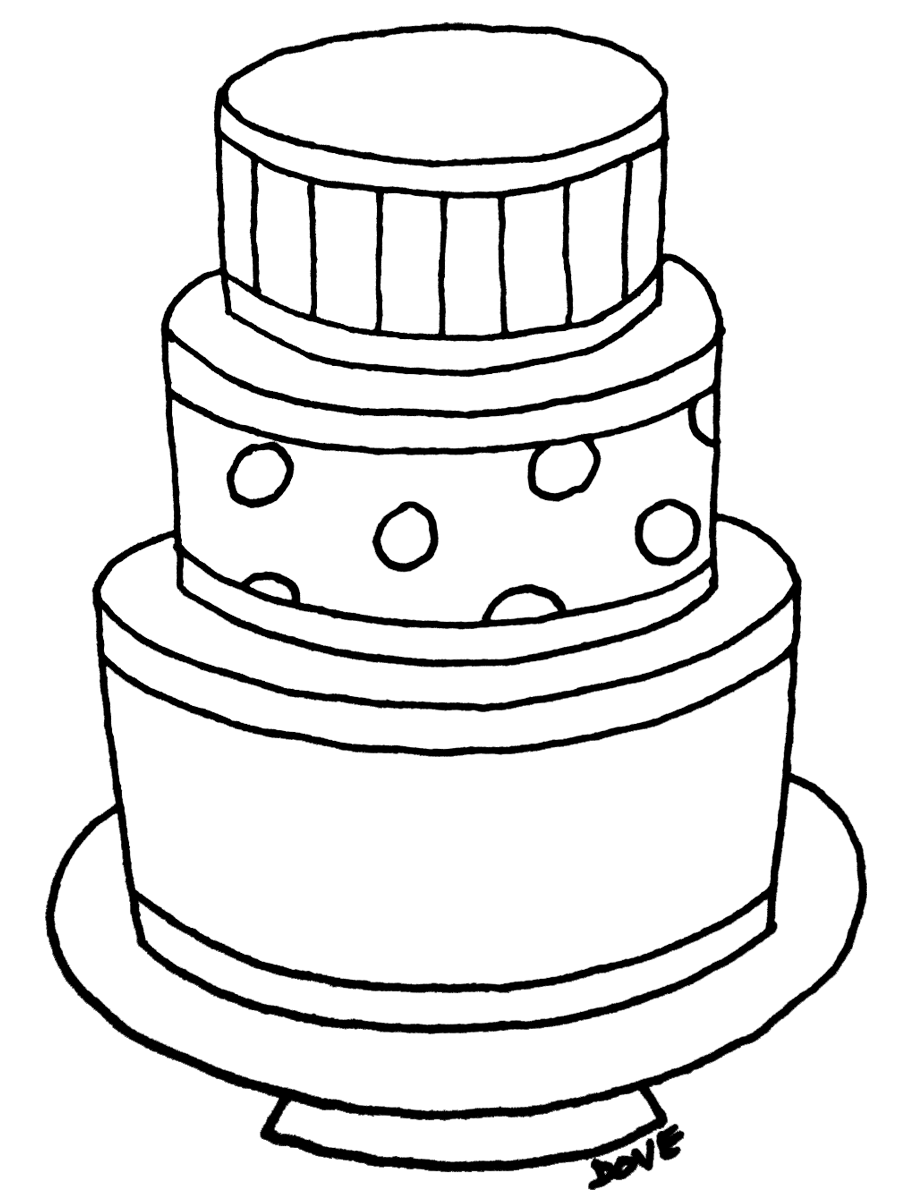 simple cake coloring pages easy cake unicat coloring pages printable pages simple coloring cake