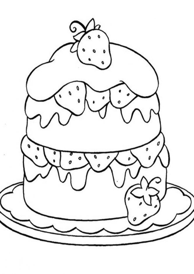 simple cake coloring pages free easy to print cake coloring pages tulamama coloring simple cake pages
