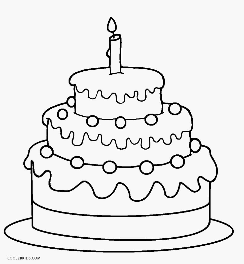 simple cake coloring pages simple birthday cake coloring pages netart coloring cake simple pages