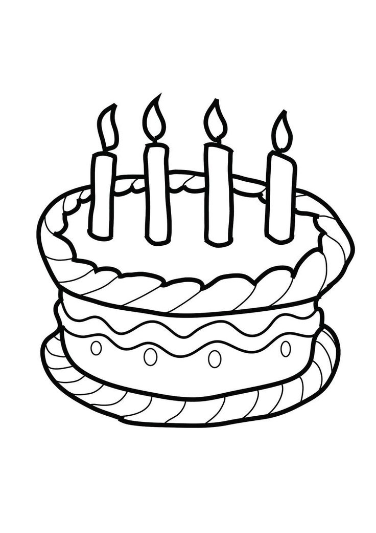 simple cake coloring pages simple birthday cake drawing at getdrawings free download pages cake coloring simple