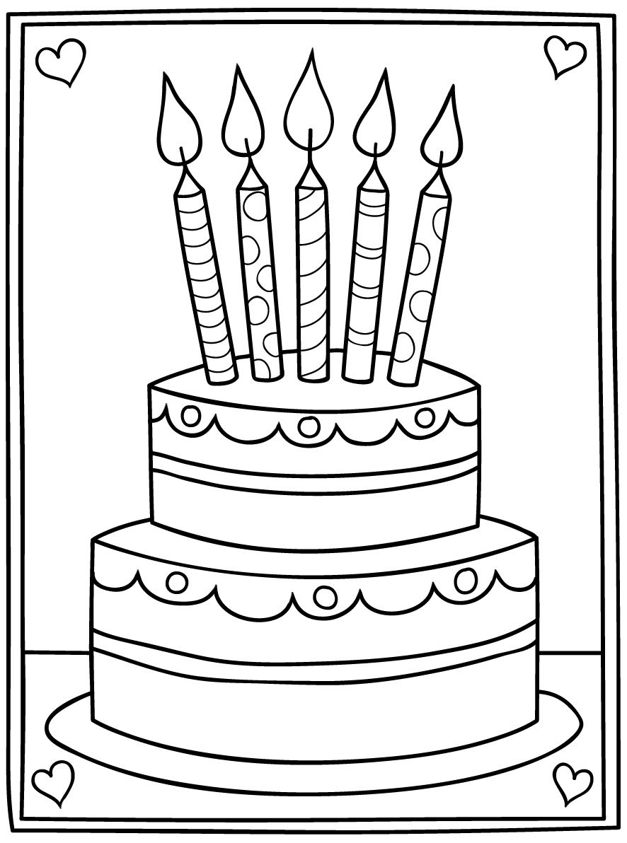 simple cake coloring pages simple cake coloring pages coloring pages simple cake