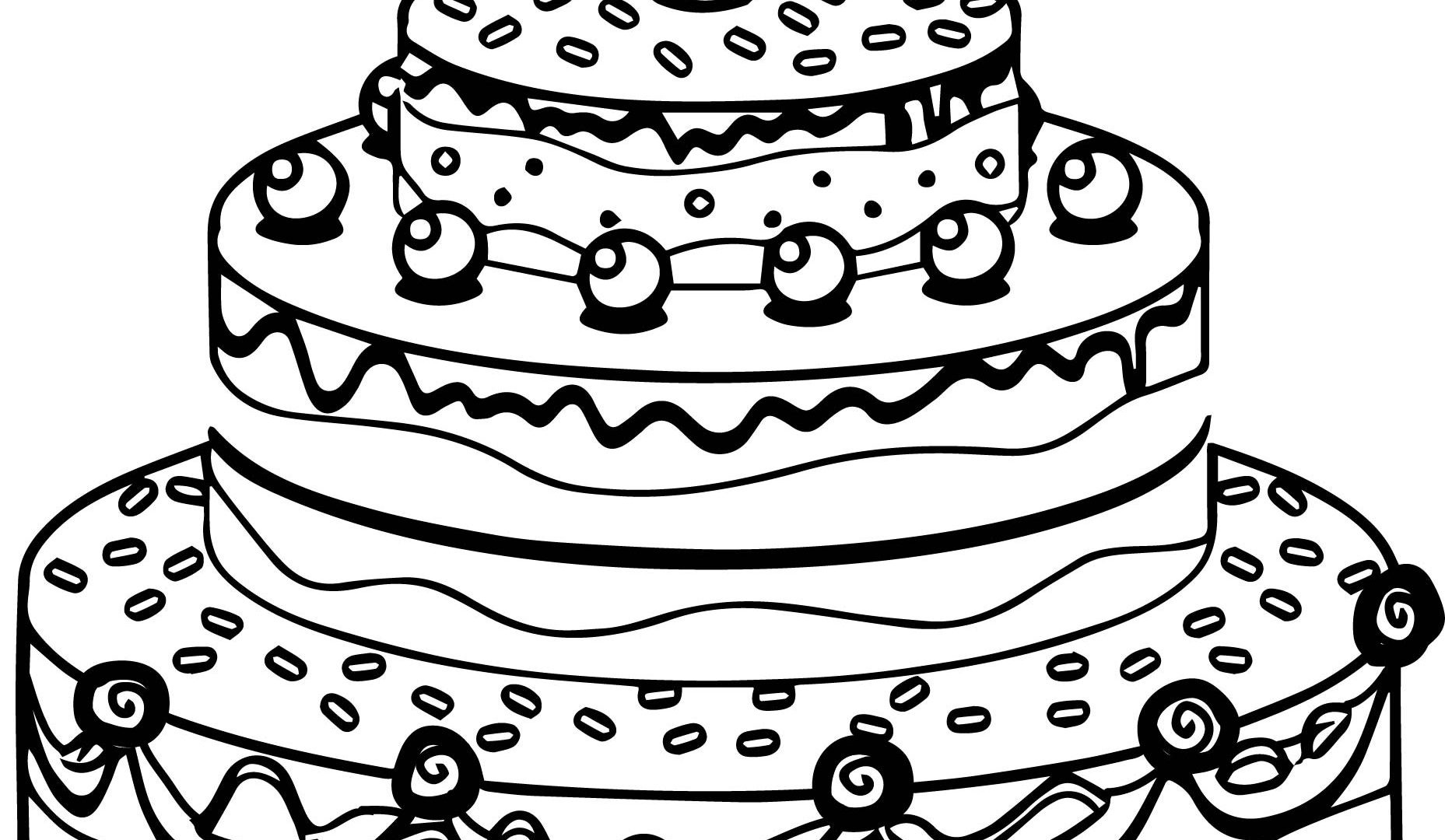 simple cake coloring pages slice of cake drawing at getdrawings free download coloring cake pages simple