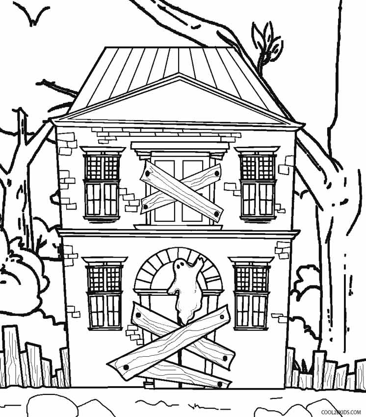 simple haunted house coloring pages easy haunted house drawing at getdrawings free download simple haunted house pages coloring