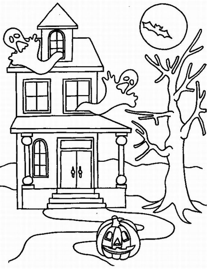simple haunted house coloring pages halloween coloring pages easy peasy and fun house coloring pages simple haunted