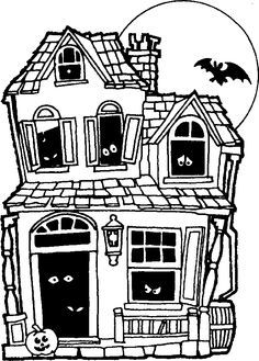 simple haunted house coloring pages halloween coloring pages make and takes haunted pages coloring simple house