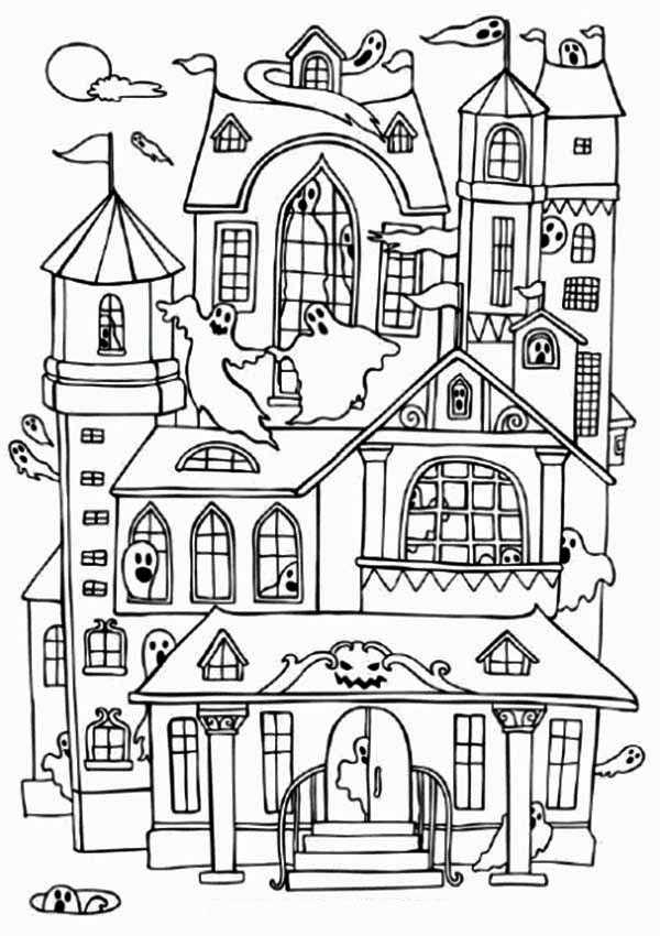 simple haunted house coloring pages haunted house coloring pages getcoloringpagescom house haunted pages simple coloring