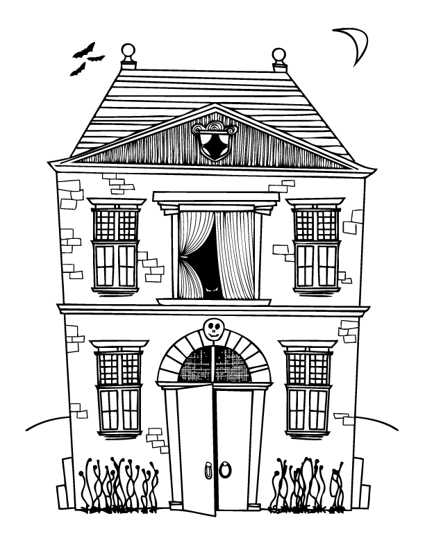 simple haunted house coloring pages haunted house coloring pages getcoloringpagescom simple pages coloring house haunted