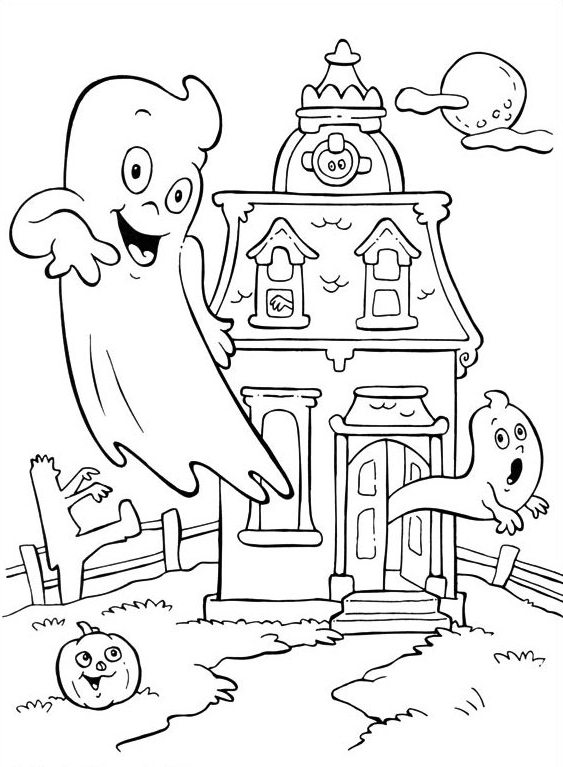 simple haunted house coloring pages haunted house coloring pages getcoloringpagescom simple pages haunted coloring house