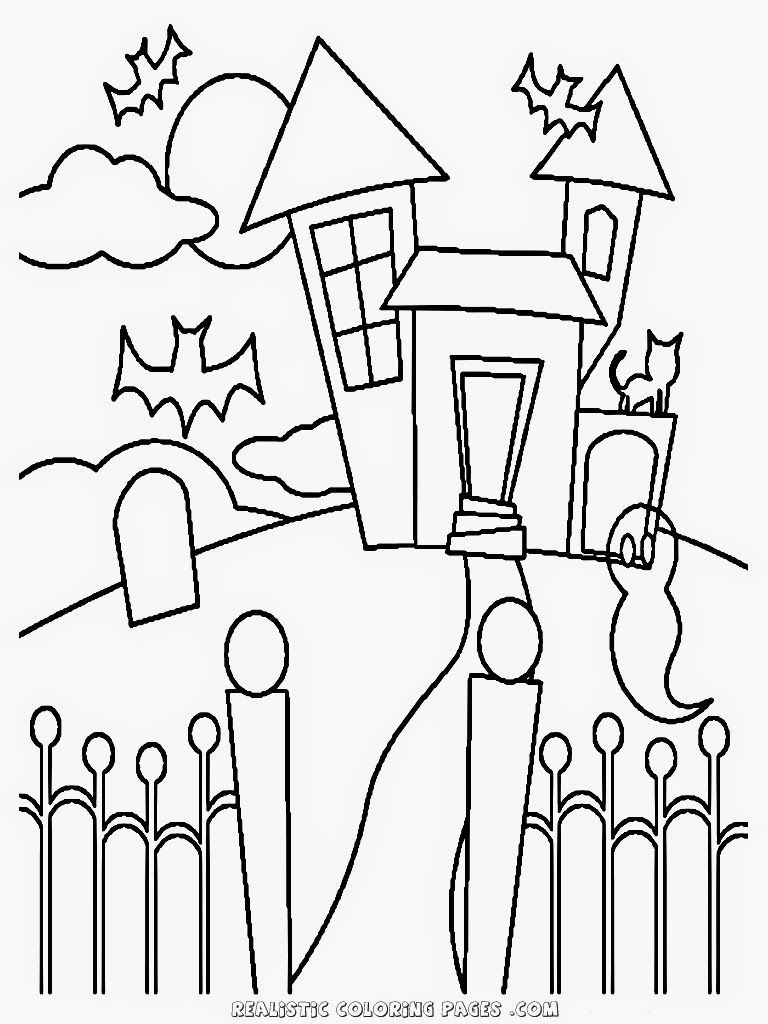 simple haunted house coloring pages printable haunted house coloring pages for kids coloring haunted house pages simple