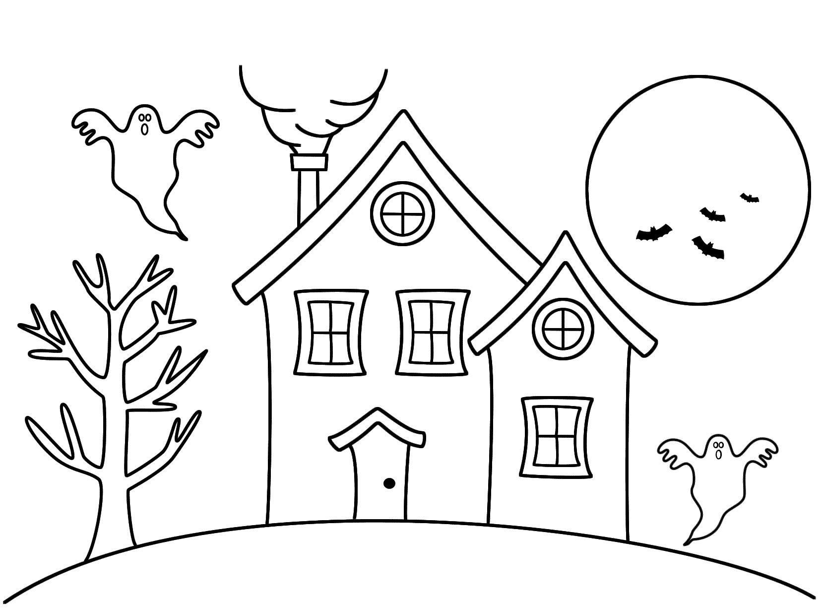 simple haunted house coloring pages simple haunted house coloring page coloring pages pages house coloring haunted simple