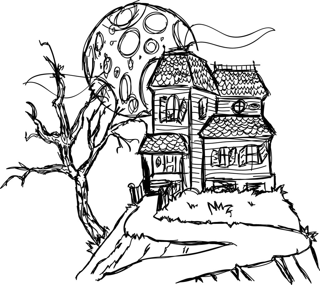 simple haunted house coloring pages simple haunted house coloring pages at getcoloringscom simple house haunted coloring pages