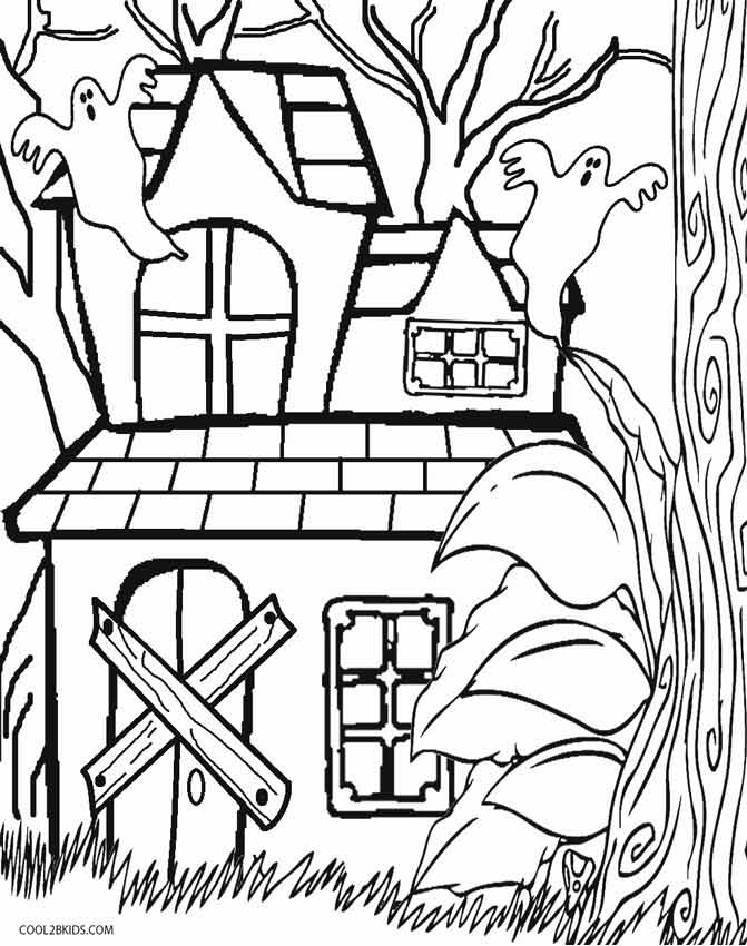 simple haunted house coloring pages simple haunted house coloring pages printable free haunted simple pages house coloring