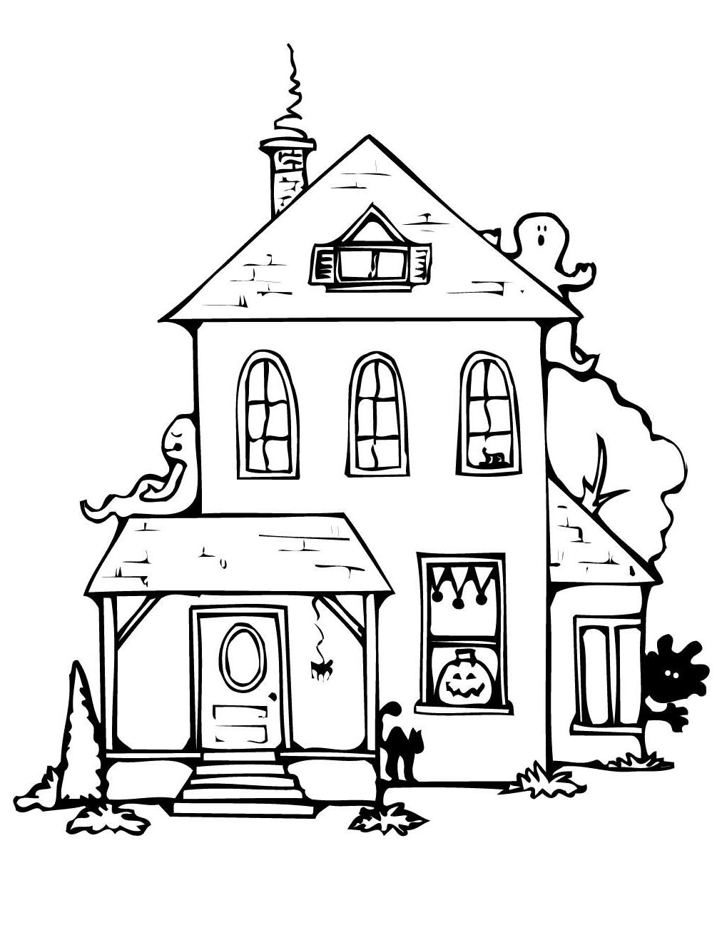 simple haunted house coloring pages simple haunted house drawing at getdrawings free download coloring simple haunted pages house