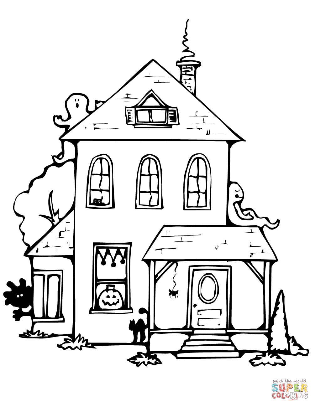 simple haunted house coloring pages simple haunted house drawing at getdrawings free download pages coloring simple haunted house