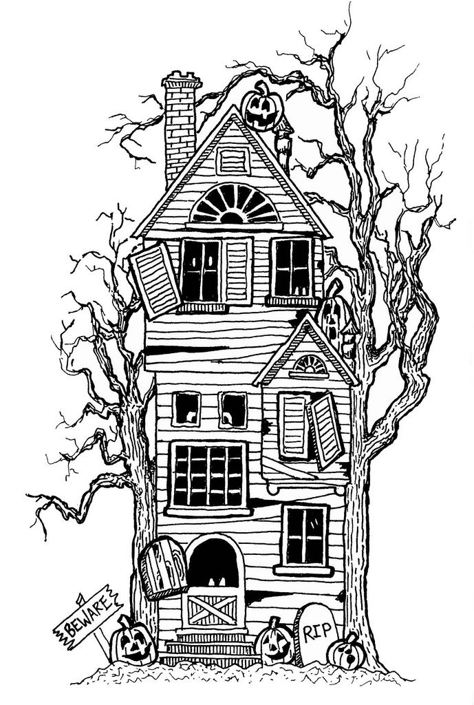 simple haunted house coloring pages spooky house drawing free download on clipartmag simple pages coloring haunted house