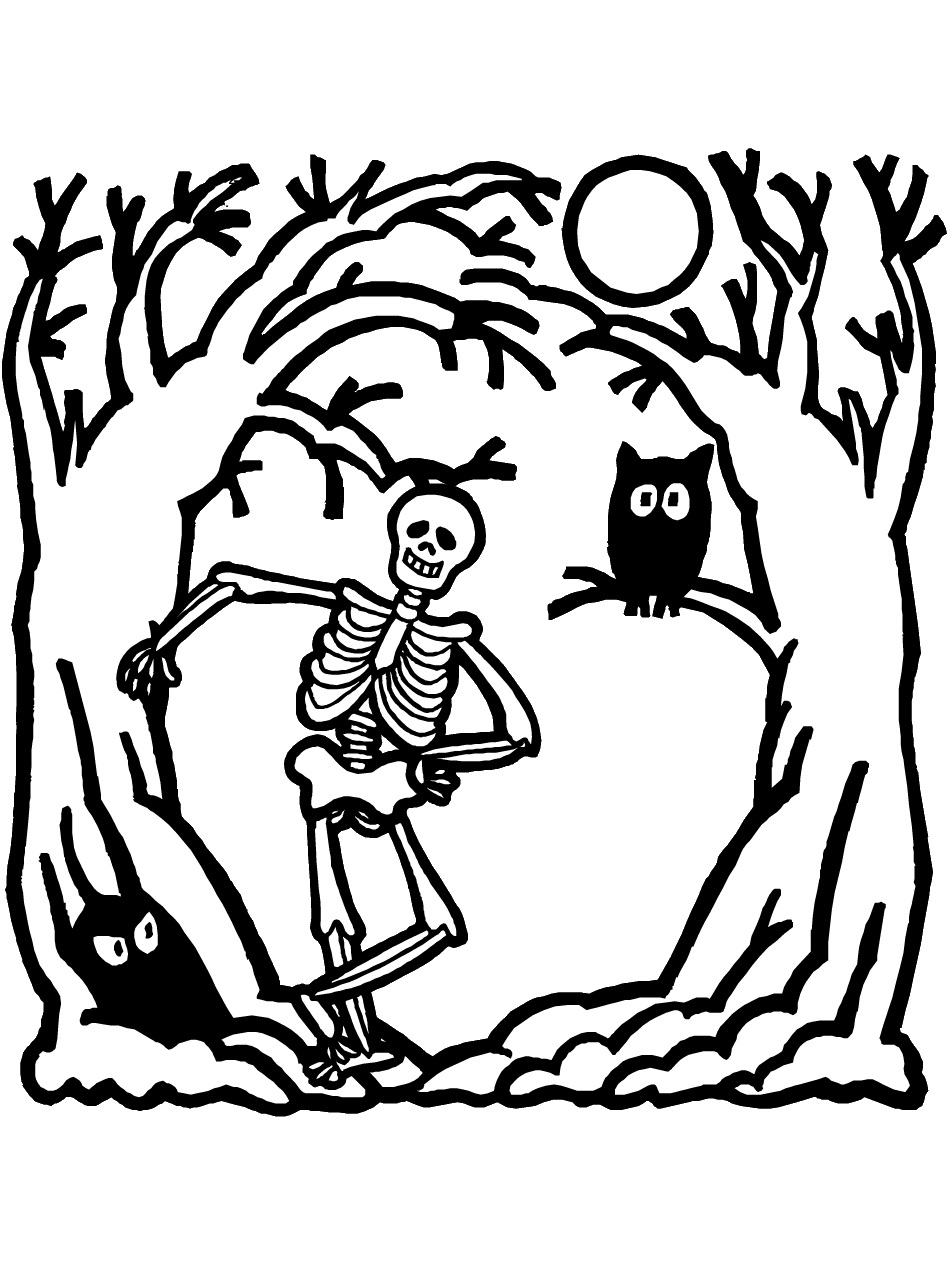 skeleton coloring pages on the street colouring pages kiddicolour skeleton coloring pages
