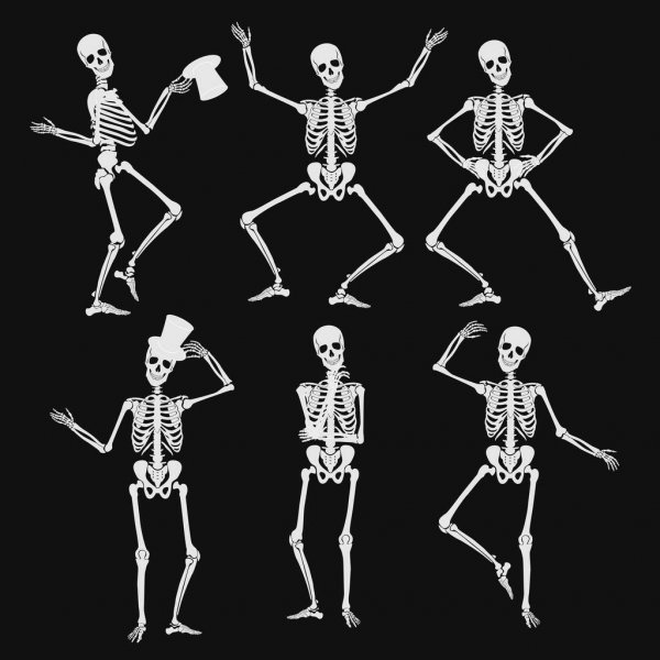 skeleton silhouette skeletons dancing stock vector huhulin 7397276 silhouette skeleton