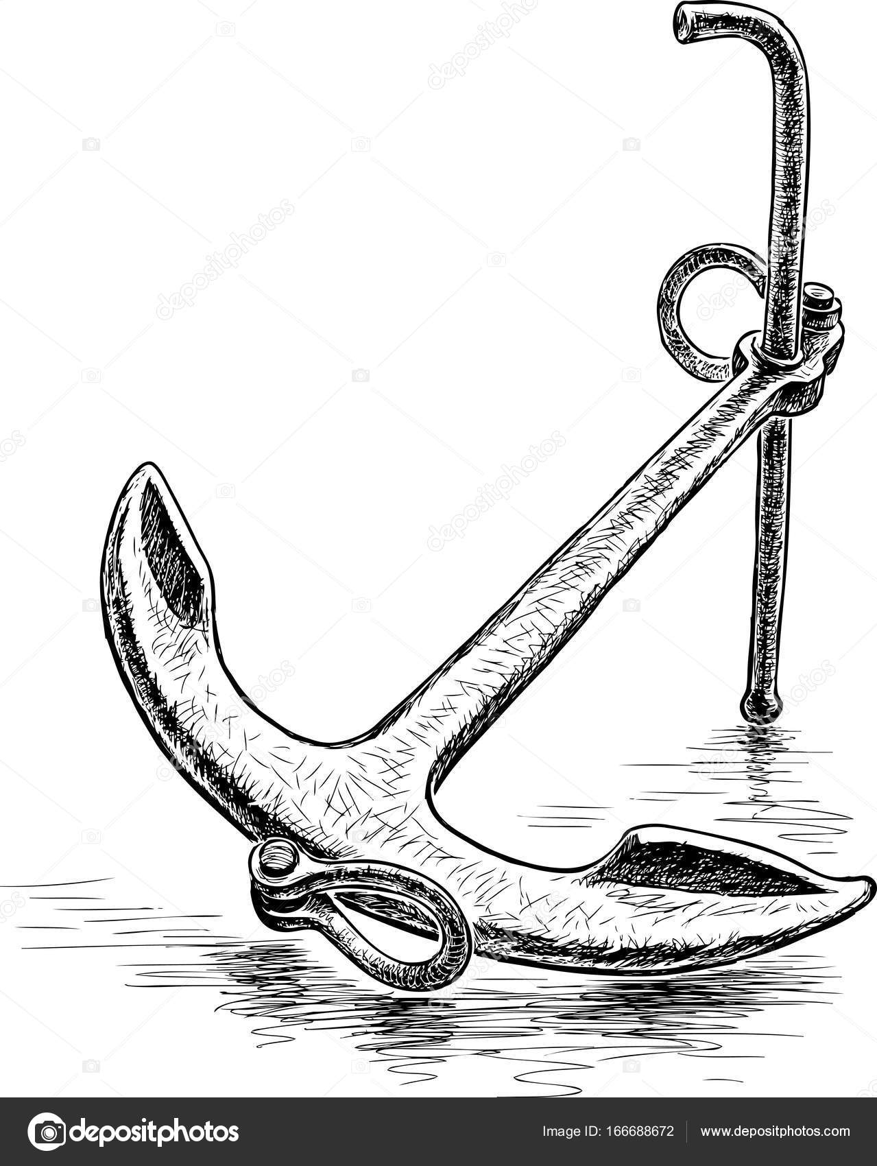 sketch of an anchor anchor drawing i did anchor love tattoo drawings of an sketch anchor