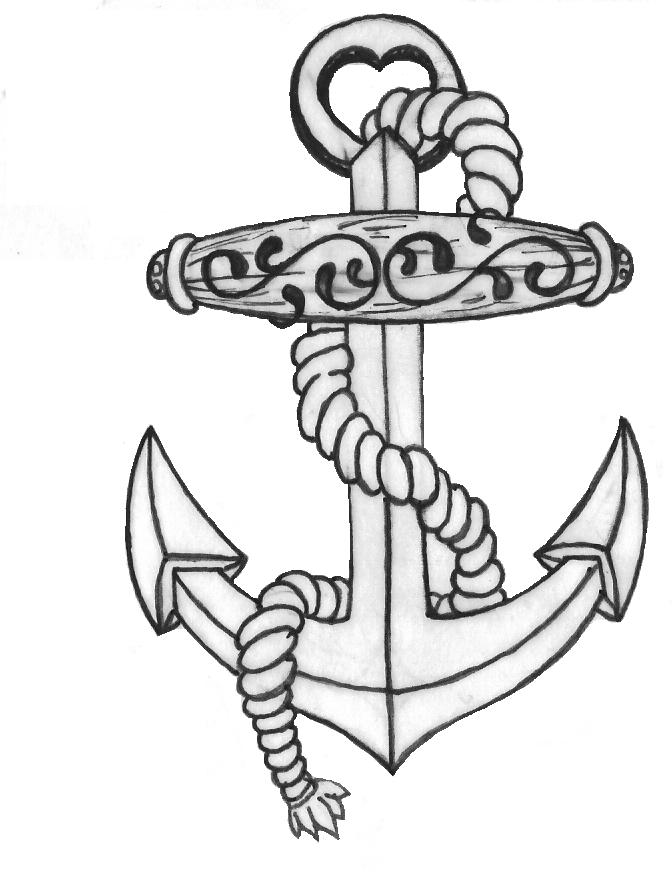 sketch of an anchor navy anchor drawing at paintingvalleycom explore an sketch of anchor