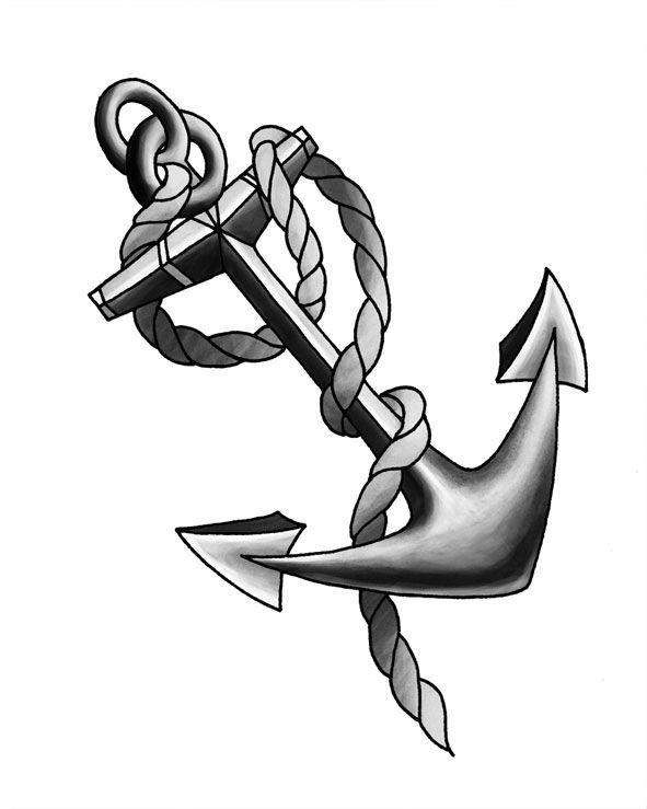 sketch of an anchor pixels and ink sea creatures and other nautical things sketch of an anchor
