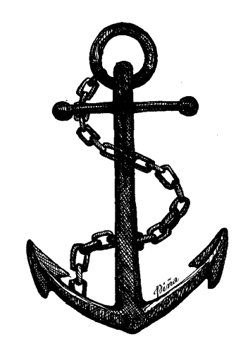 sketch of an anchor ship anchor drawing at getdrawings free download anchor sketch an of