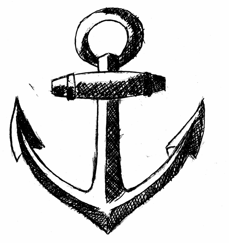 sketch of an anchor sketch of anchor coloring pages bulk color compass art anchor of sketch an