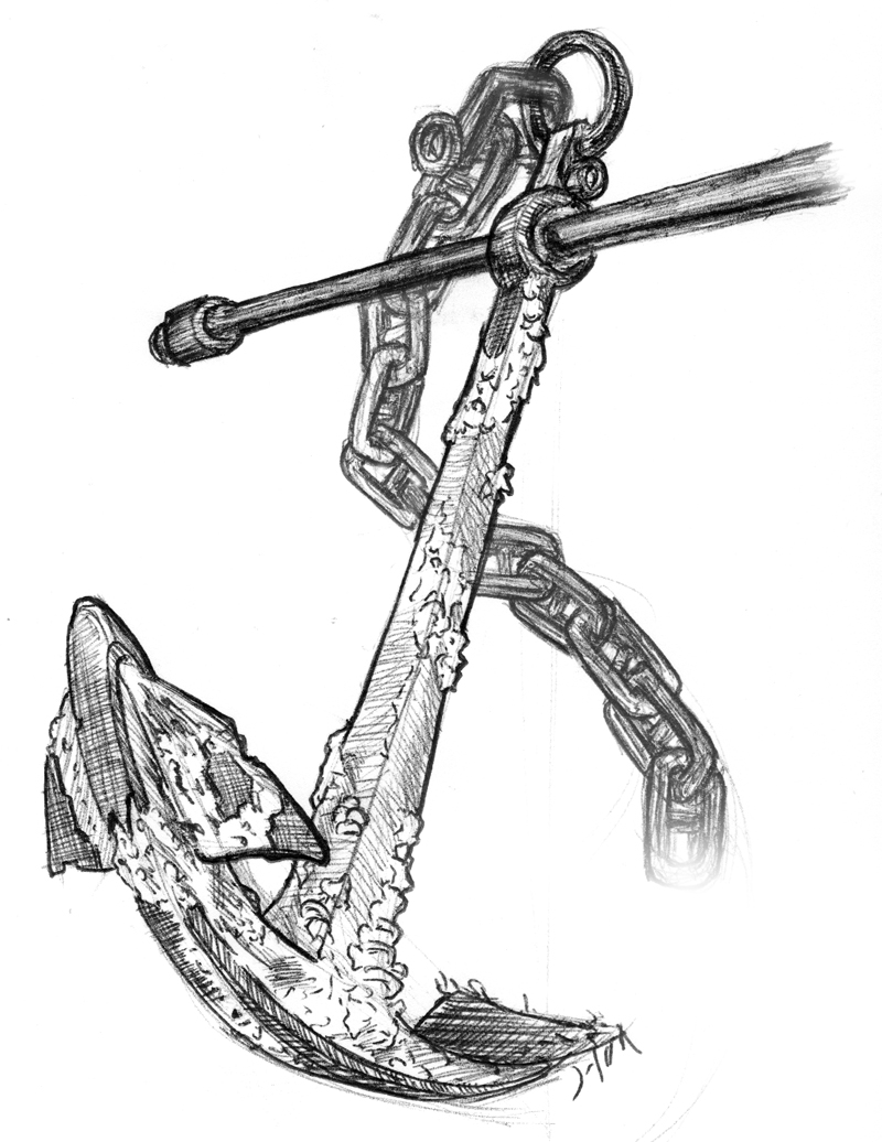 sketch of an anchor tattoo sketch drawing at paintingvalleycom explore an anchor sketch of