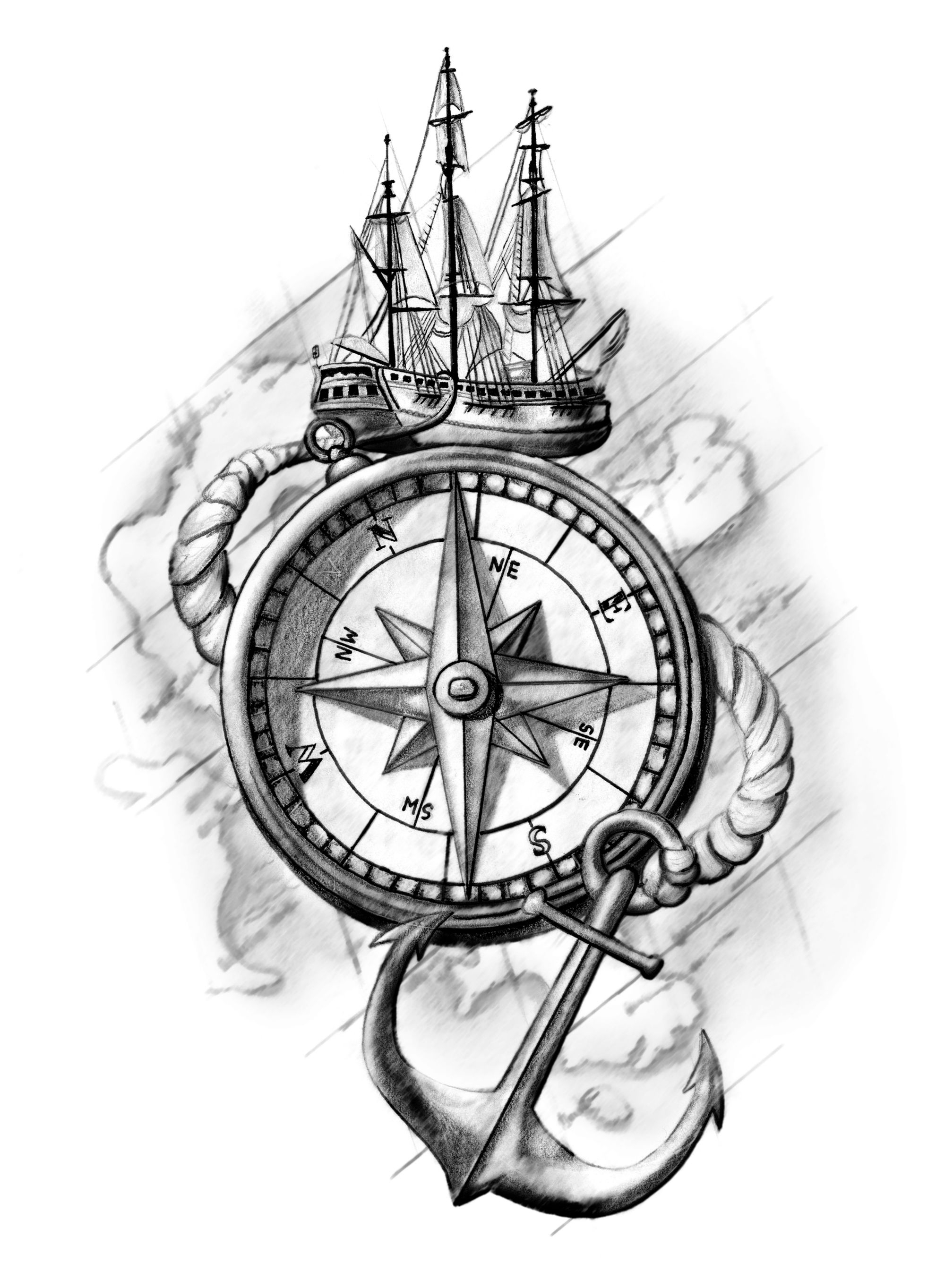 sketch of an anchor vinyl decal nautical ship anchor with rope boat ocean anchor sketch an of
