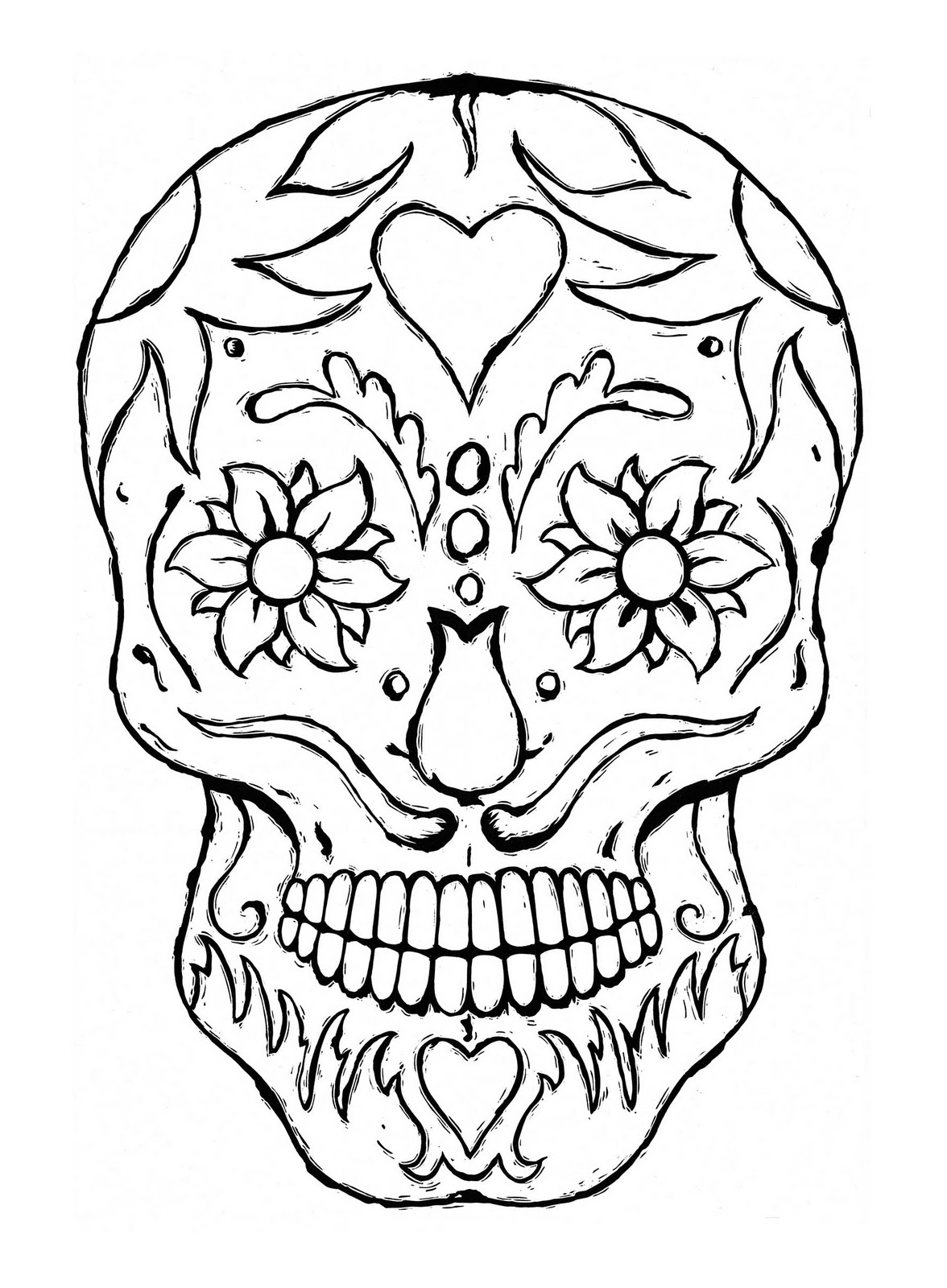 skull color 30 free printable sugar skull coloring pages color skull 1 1