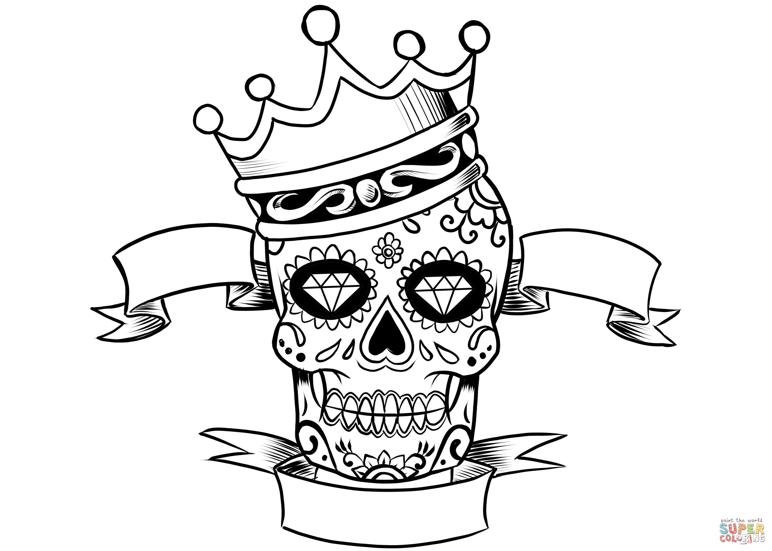 skull color coloring pages skull free printable coloring pages color skull