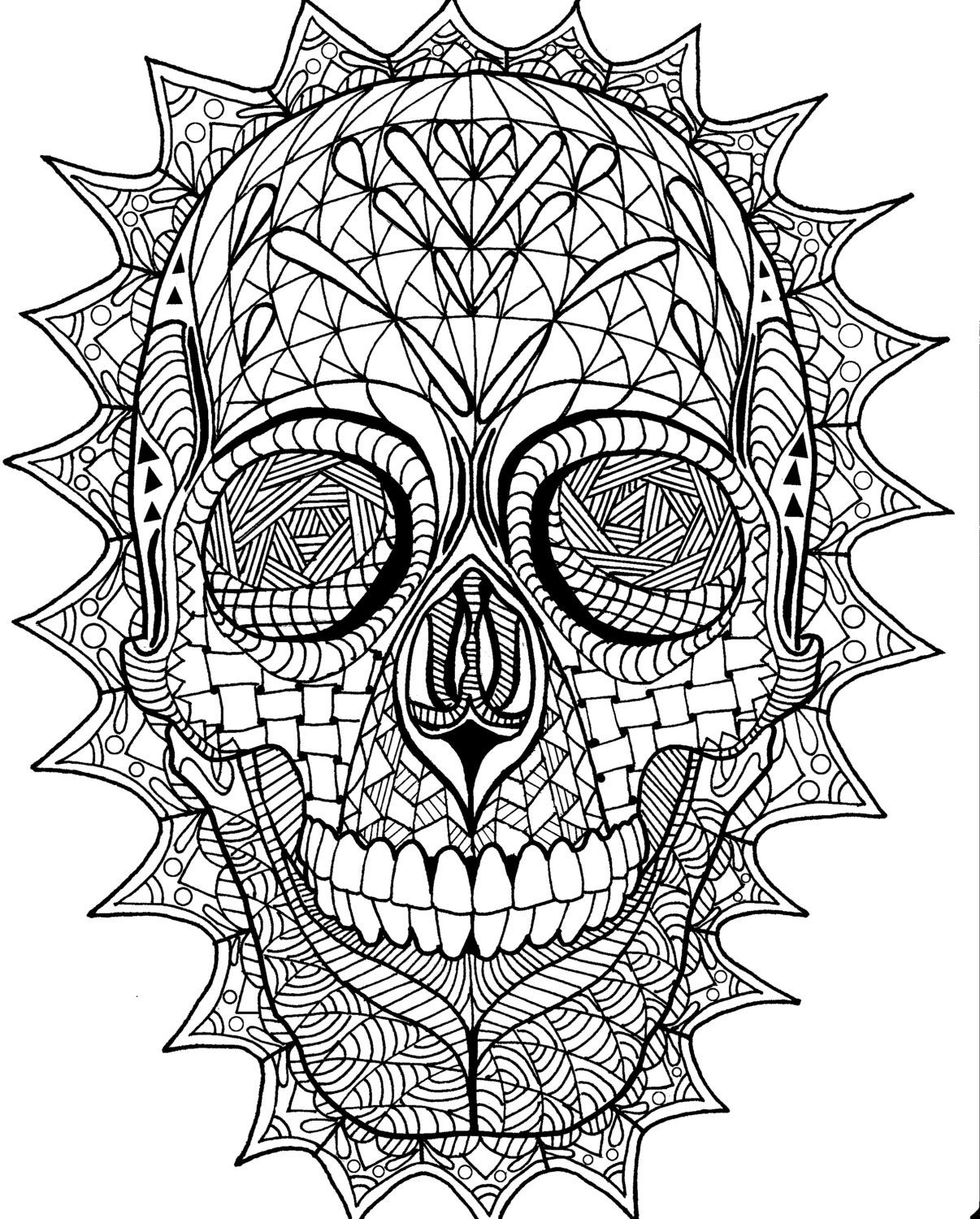 skull color coloring pages skull free printable coloring pages skull color
