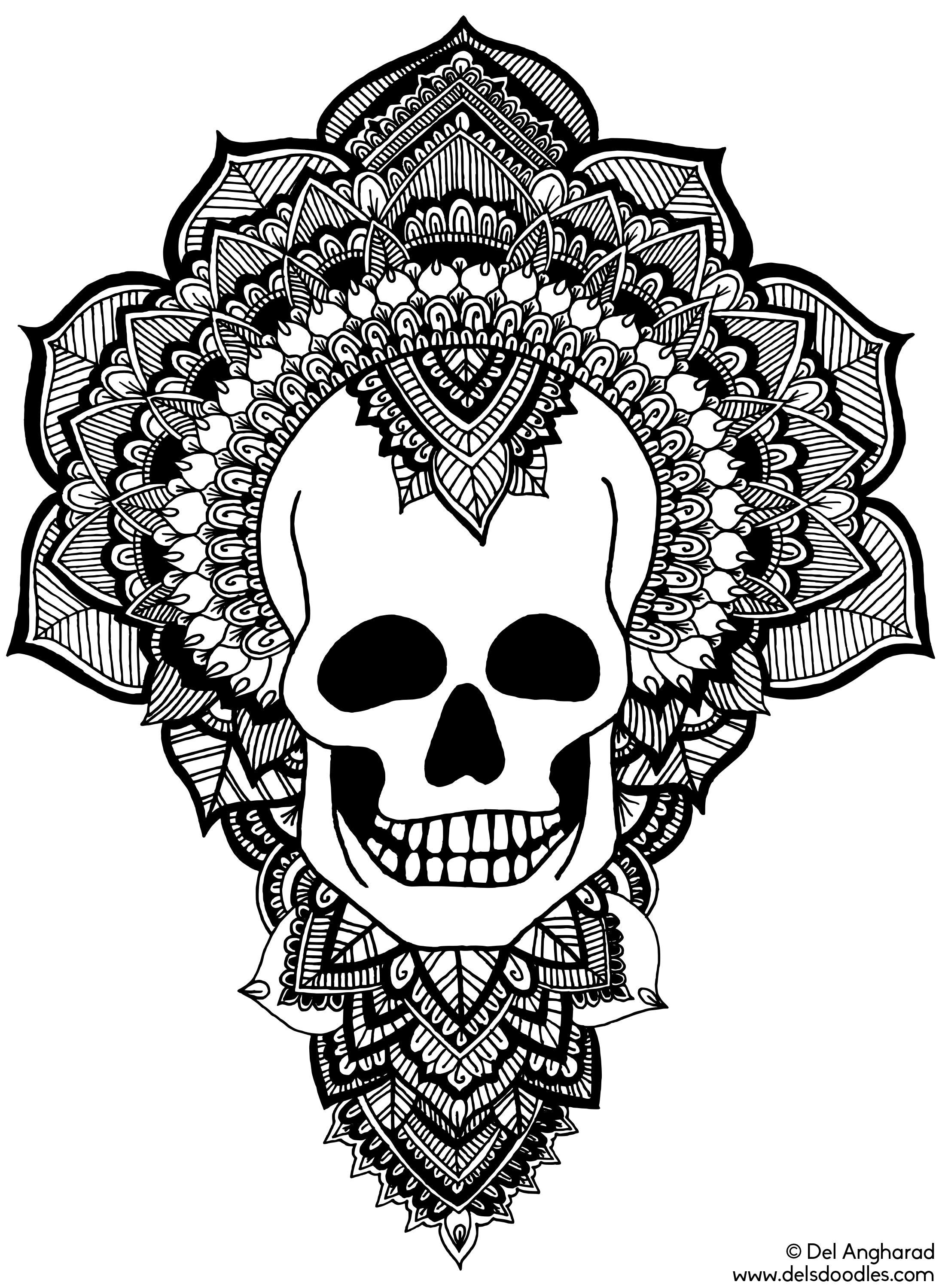 skull color detailed skull drawing at getdrawings free download skull color