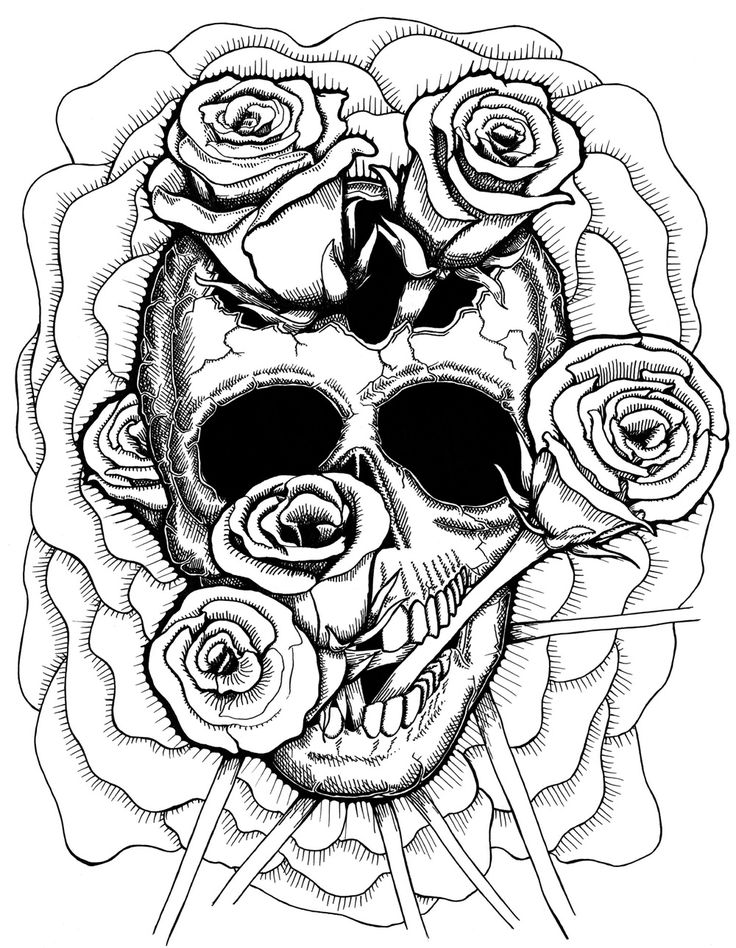 skull color free printable day of the dead coloring pages best skull color