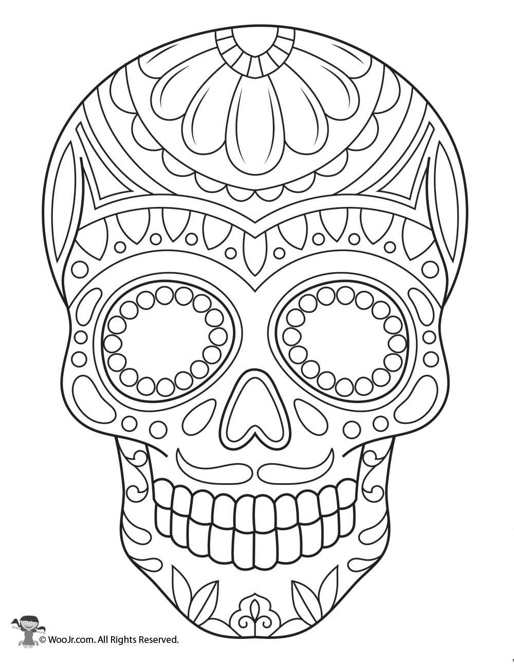 skull color halloween colorings color skull
