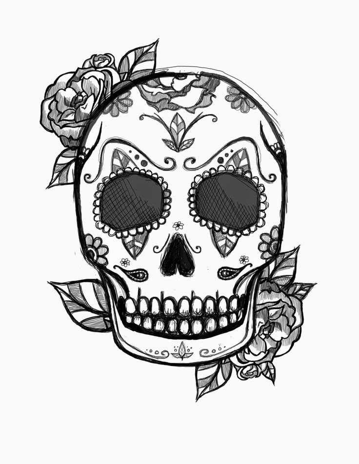 skull color print download sugar skull coloring pages to have color skull