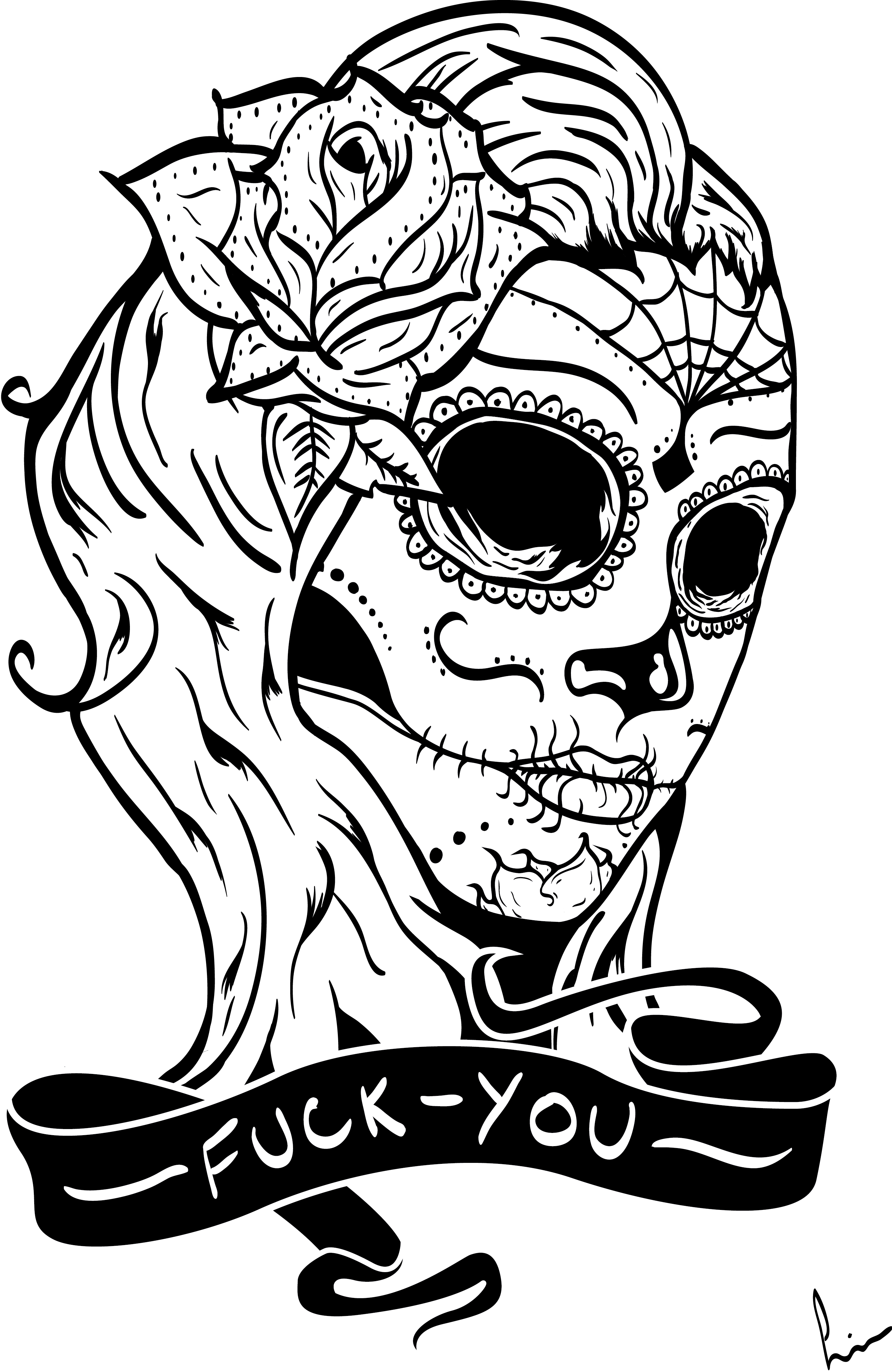skull color print download sugar skull coloring pages to have skull color