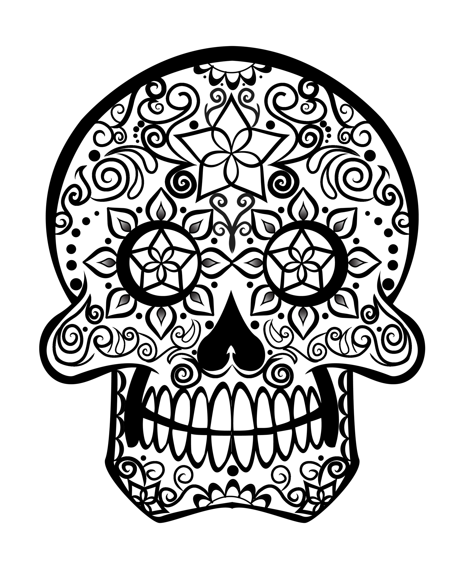 skull color skull coloring pages free download on clipartmag color skull