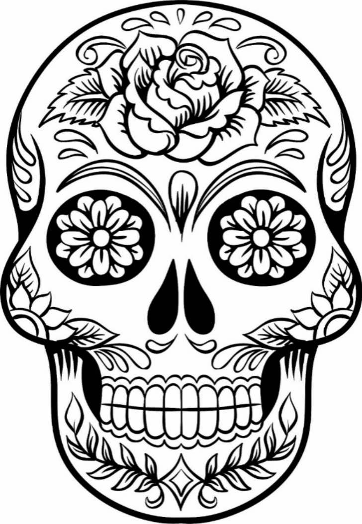 skull color sugar skull coloring page coloring home skull color