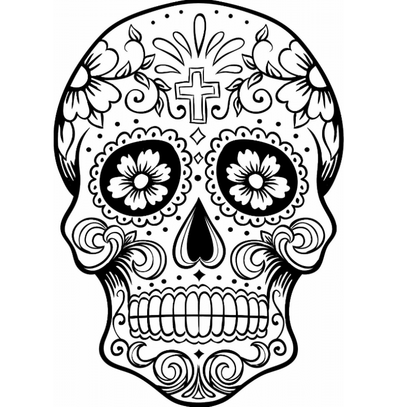 skull colouring pictures coloring pages tumblr free download on clipartmag colouring pictures skull